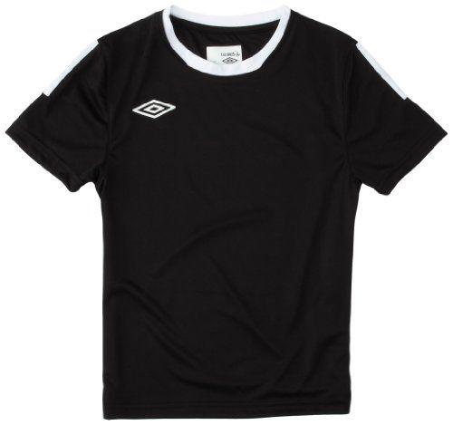 UMBRO-Premier-Jersey-Noir-Blanc-FR-XS-Taille-Fabricant-XS-NEUF