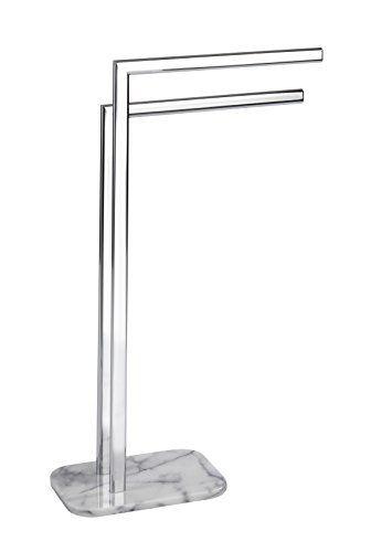 Wenko-Porte-serviettes-Onyx-Marbre-22506100-Chrome-41-x-6-x-81-cm-NEUF