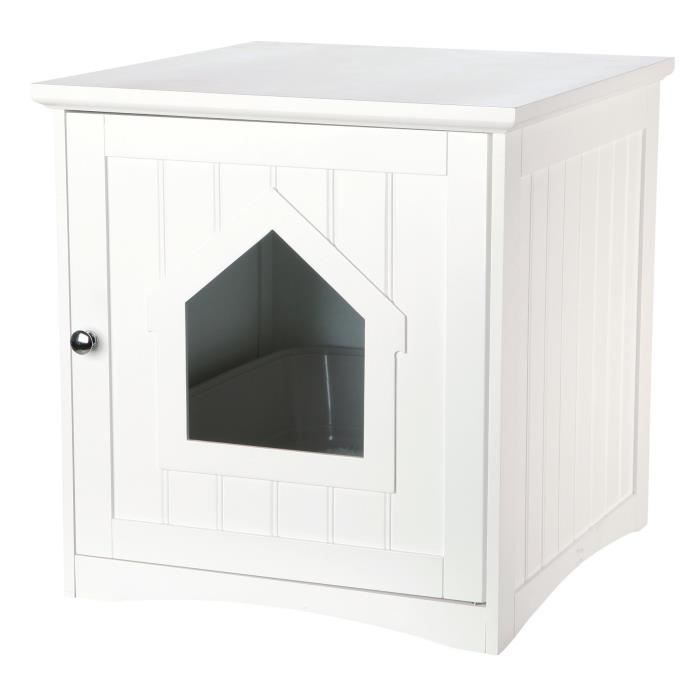 trixie cabine de toilette 49x51x51cm blanc pour. Black Bedroom Furniture Sets. Home Design Ideas