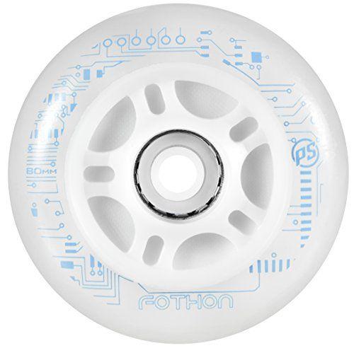 Powerslide mm] - Roues nightwheels [905203/90] [Transparent - blanc] [90 mm] Powerslide NEUF 82560e