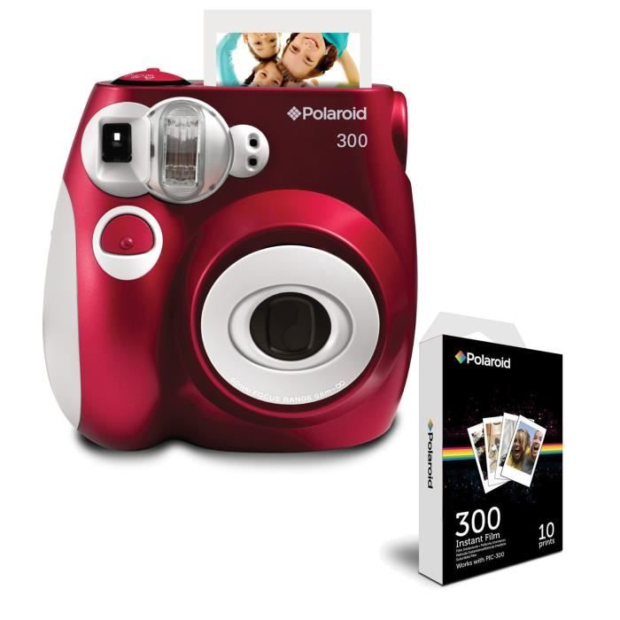 05ee8322b0c49a Polaroid - Pack PIC300 Rouge Appareil photo instantané compact + NEUF