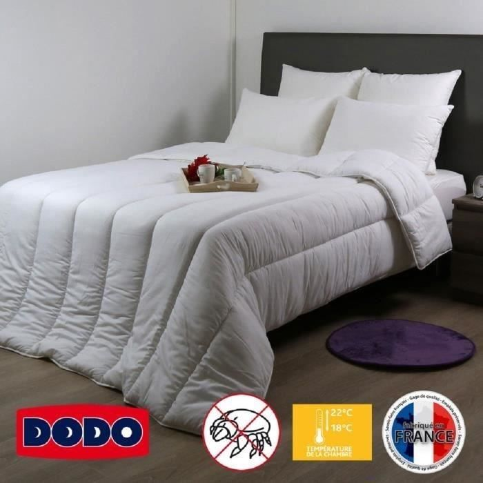 dodo couette temp r e anti acariens niagara 220x240 cm blanc neuf ebay. Black Bedroom Furniture Sets. Home Design Ideas