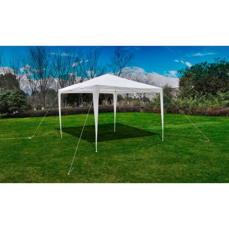vidaXL-Tonnelle-Pavillon-de-jardin-blanc-3x3m-90136-NEUF