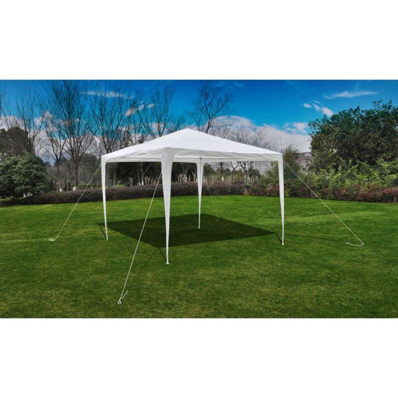 vidaXL-Tonnelle-Pavillon-de-jardin-blanc-3x3m-90136-NEUF miniature 2