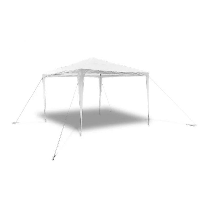 vidaXL-Tonnelle-Pavillon-de-jardin-blanc-3x3m-90136-NEUF miniature 7