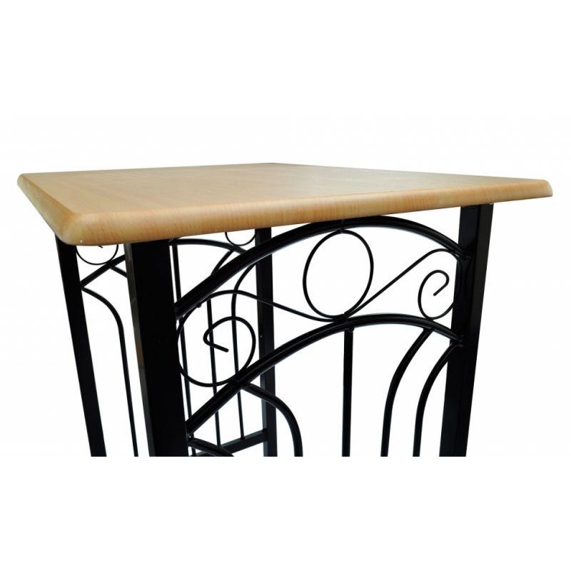 Lot-d-039-une-table-haute-de-bar-avec-2-tabourets-039-039-phoenix-039-039-NEUF