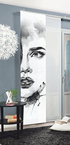 The-Home-of-Fashion-Home-Fashion-Panneau-Japonais-87889-703-GRIS-NEUF