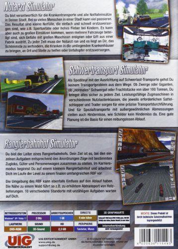 Simulator Bundel: Notarzt, Schwertransport, Rangier Sim 2+1 Orange [german Version]