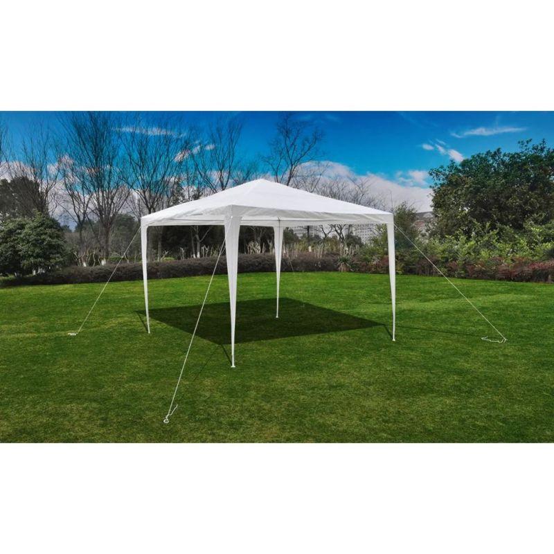 vidaXL-Tonnelle-Pavillon-de-jardin-blanc-3x3m-90136-NEUF miniature 6