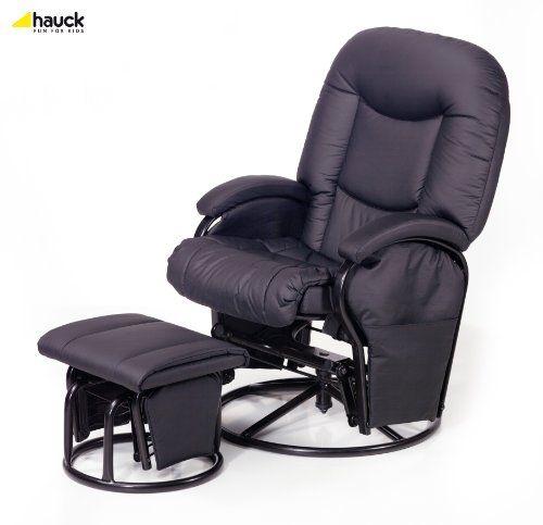 HAUCK - Fauteuil Metal Glider Recline noir Import Allemagne - [687024] NEUF